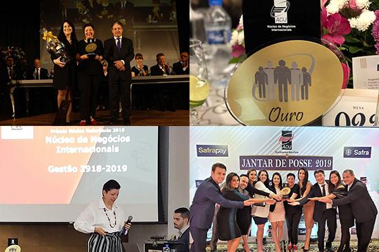 Prêmio Ouro como Núcleo Referência – Gestão 2018-2019